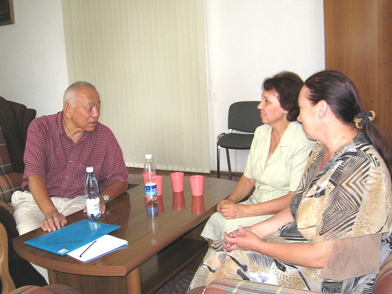 National coordinator Acad. Jamin Akimaliev discuss on collaboration